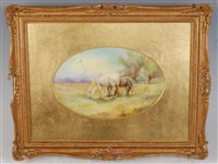 Lot 1045 - *A Royal Worcester porcelain plaque,...