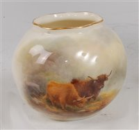 Lot 1047-*A Royal Worcester porcelain Wrythern moulded...