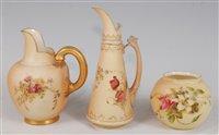 Lot 1064 - *A Royal Worcester porcelain blush ivory...
