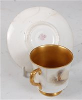 Lot 1034-*A Royal Worcester porcelain coffee can and...