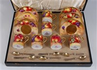 Lot 1030 - *A cased matched set of Six Royal Worcester...