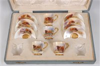 Lot 1029 - *A set of four Royal Worcester porcelain...