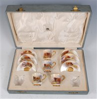 Lot 1029-*A set of four Royal Worcester porcelain coffee...
