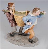 Lot 1060 - *A Royal Worcester porcelain figure group,...