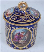 Lot 1074 - *A 19th century Vienna porcelain chocolate cup...
