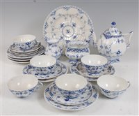 Lot 1072-*A Royal Copenhagen six place setting tea service,...