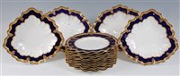 Lot 1068-*A Royal Crown Derby part dessert service,...