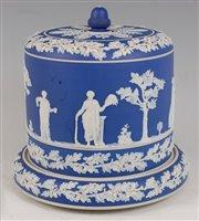 Lot 1089 - A Victorian blue jasper ware Stilton dish and...