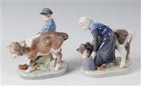 Lot 52-*Royal Copenhagen - a pair of glazed porcelain...