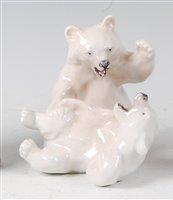 Lot 55-*Royal Copenhagen - a glazed porcelain group...