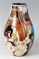 Lot 1-A limited edition Moorcroft pottery vase in...