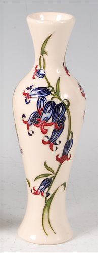 Lot 5-A Moorcroft pottery vase in the Bluebell Harmony...