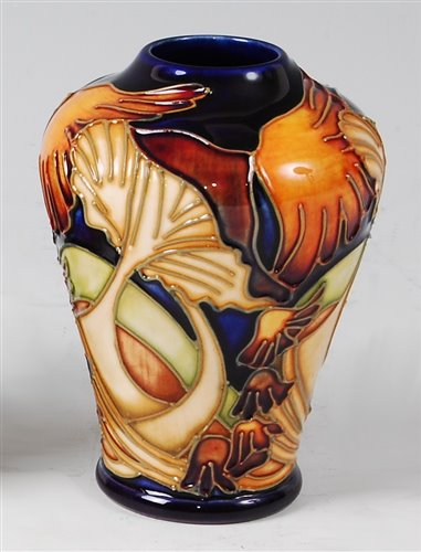 Lot 14-A small Moorcroft pottery vase in the Parasol...