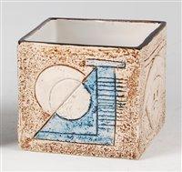 Lot 61-Simone Kilburn for Troika pottery - a cube...