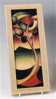 Lot 27-A modern Moorcroft framed pottery wall plaque in...