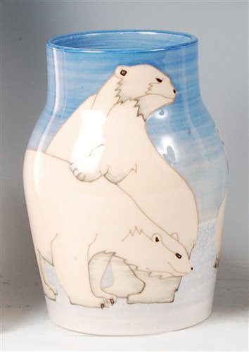 Lot 28-Dennis Chinaworks - a modern pottery polar bear...