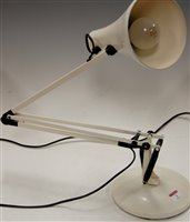Lot 3-A modern white painted angle poise desk lamp