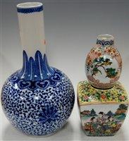 Lot 12-A large Chinese blue & white bottle vase having...