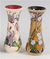 Lot 21-A Moorcroft pottery posy vase in the Toad Lily...