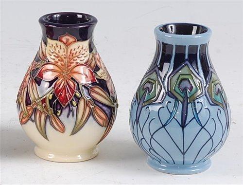Lot 26-A Moorcroft pottery squat vase in the Peruvian...