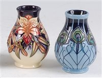 Lot 26-A Moorcroft pottery squat vase in the Peruvian...