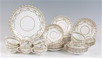 Lot 1070-*A late Victorian Copeland Spode part tea set,...
