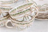Lot 1070 - *A late Victorian Copeland Spode part tea set,...