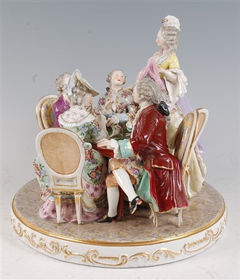 Lot 1021-A late 19th century continental porcelain table...
