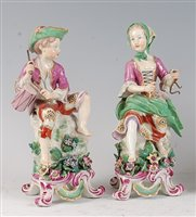 Lot 1093 - A pair of 18th century English soft-paste...