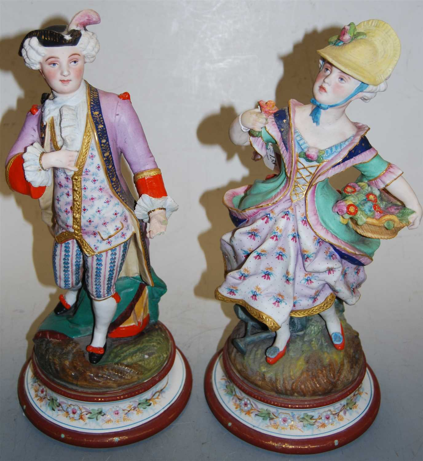 Lot 17-A pair of late 19th century continental bisque...