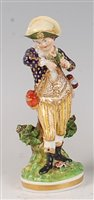 Lot 1097 - An early 19th century Bloor Derby figure of a...