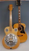 Lot 511-A Futurama resonator blues guitar, in soft carry...