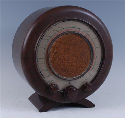 Lot 515-An Ekco Type A22 circular bakelite radio, circa...