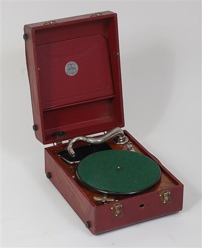 Lot 518-An early 20th cenutry Antonia portable gramophone,...