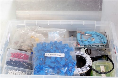 Lot 11-Two plastic boxes containing variety of tools...