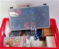 Lot 11-Two plastic boxes containing variety of tools and ...