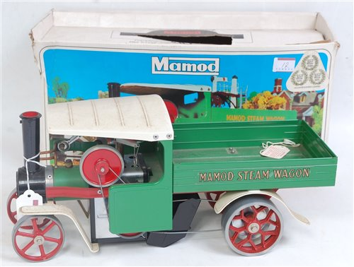 Lot 12-Mamod steam wagon appears unused but will...