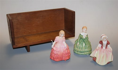 Lot 1-Three small Royal Doulton figurines to include...