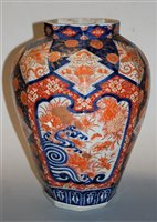 Lot 3-A large 19th century Japanese vase, of octagonal...