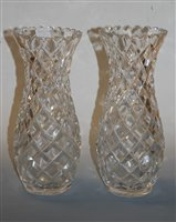 Lot 7-A pair of large early 20th century cut glass...
