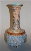 Lot 10-A Doulton Burslem stoneware vase, having flared...