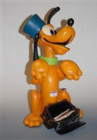Lot 15-A large painted RESIN model of Disney's Pluto,...