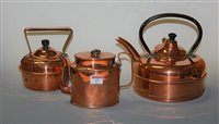 Lot 17-An early 20th century copper quick-boiling kettle;...
