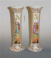 Lot 21-A pair of late 19th century Dresden porcelain...