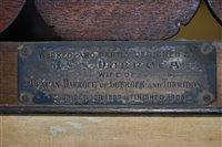 Lot 1157-A good early 20th century mahogany framed...