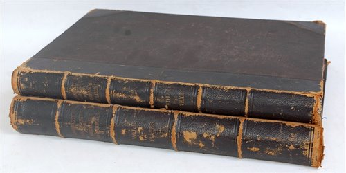 Lot 6-Two leather bound volumes titled Locomotive...