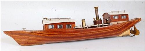 Lot 4-A balsa wood kit built spirit fired steam river...
