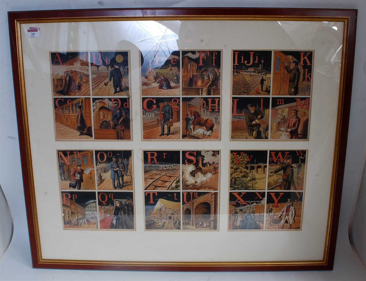 "Lot 24-Framed and glazed set of prints, landscape 35""x29""..."