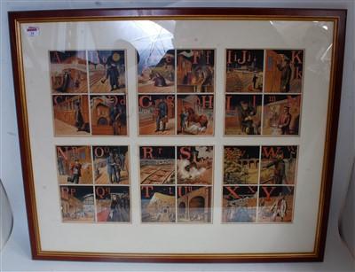 """Lot 24-Framed and glazed set of prints, landscape 35""""x29""""..."""
