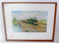 """Lot 30-Framed and glazed landscape coloured print 25""""x20""""..."""